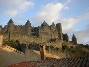 Nestled below Carcassonne Castle Walls