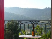 Cottage with stunning views over the Aude Valley.