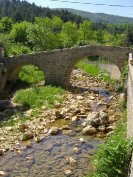 Medieval bridge in village