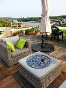 Roof terrace and river view