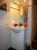 Sink with storage, mirrors & towel rail