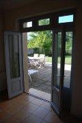 Door to terrace from dining room