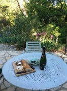 Cheese and wine on the terrace