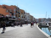Bustling Cap d'Agde harbour