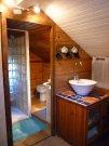 Upstairs kitchen corner and shower rooml