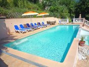 Pool has alarm & safely gates