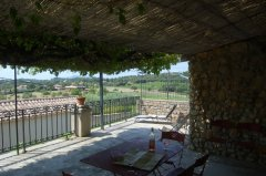 Wide terrace with sun or shade and lovely views