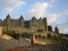 Nestled below Carcassonne Castle Walls