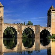 Pont du Valentré - one of the most visited sites in France - in nearby Cahors