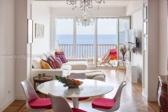 Living area with a view on the sea