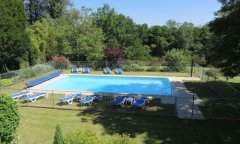 View over the pool