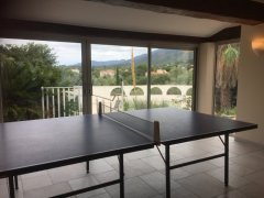 Interior table tennis room
