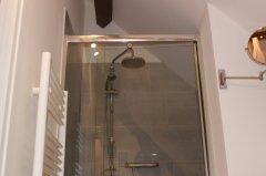 Spacious italian style shower