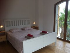 Upstairs bedroom with private terrace