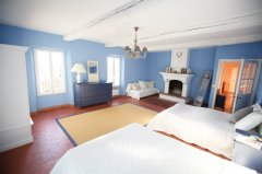 The Blue room with it's two double beds