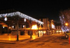 Mirepoix square at Christmas