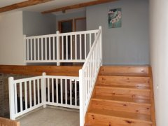Staircase from kitchen to bedrooms