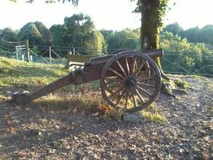 Cannon on the historic ramparts