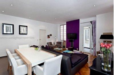 Modern open space living room