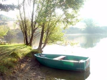 The 4 acre fishing lake at Bordebasse