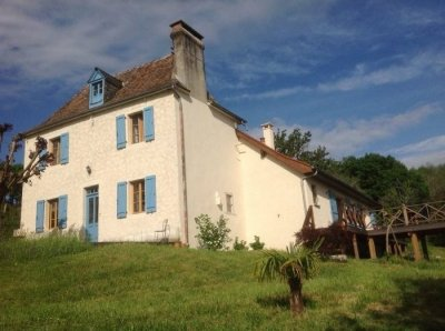A charming traditional Béarnaise house set in a lovely peaceful garden in a pretty rural setting in the most southerly south west region of France.