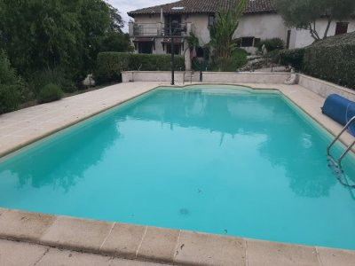 Pool and upstairs terrace