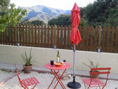 Enjoy a glass of wine in the garden