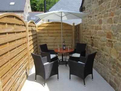 Private patio area cottage