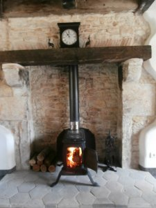 The antique wood-burner