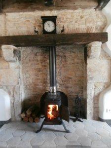 The antique wood-burner