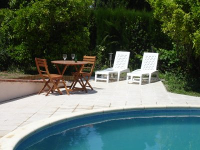 Cottage Canigou - pool side terrace