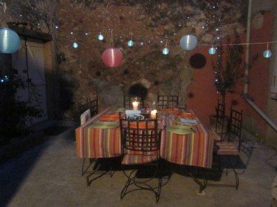 Courtyard night