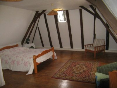 Gatehouse Bedroom with beams