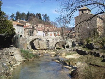 The beautiful village of Labastide