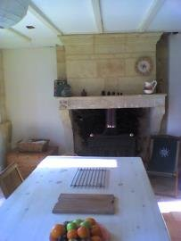 Living/dining room & woodburning stove