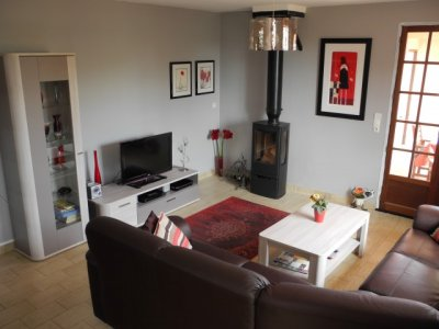 Refurbished (2017) living room with 7kw wood burning stove