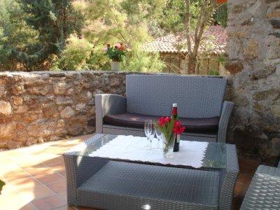 Sunny south terrace - al fresco dining