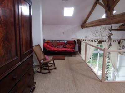 Single bed on other side of loft