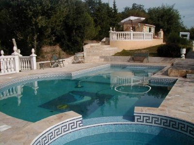 Mosaic swimming pool