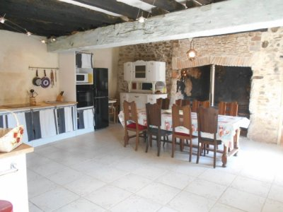Kitchen/Diner with Fireplace and Wood Burner